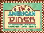 American Diner Cafe Food Steel Vintage Retro Metal Plaque Sign